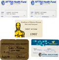 Movie/TV Memorabilia:Documents, Robert Mitchum Group of ID Cards (1980s-1990s).... (Total: 5 )