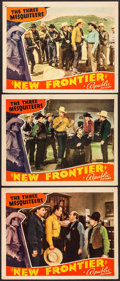"""Movie Posters:Western, New Frontier (Republic, 1939). Lobby Cards (3) (11"""" X 14""""). Western.. ... (Total: 3 Items)"""