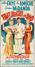 """Movie Posters:Musical, That Night in Rio (20th Century Fox, 1941) Folded, Fine+. Three Sheet (41"""" X 78.5"""") Style B. Musical...."""
