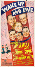 """Movie Posters:Musical, Wake Up and Live (20th Century Fox, 1937). Three Sheet (41"""" X 79"""")Style B. Musical.. ..."""
