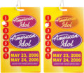 Music Memorabilia:Memorabilia, Prince Owned American Idol Passes for the American Idol Season 5 Series Finale, May 23-24, 2006.... (Total: 2 Items)