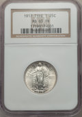 Standing Liberty Quarters, 1917 25C Type One MS65 Full Head NGC. NGC Census: (744/392). PCGS Population: (1170/603). MS65. Mintage 8,740,000. . Fr...