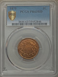 1870 2C PR63 Red PCGS Secure. PCGS Population: (10/95 and 0/4+). NGC Census: (1/64 and 0/3+). PR63. Mintage 1,000. ...(P...