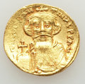 Ancients:Byzantine, Ancients: Constans II (AD 641-668). AV solidus (4.44 gm). MS, wavy flan, scratches....