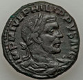 Ancients:Roman Provincial , Ancients: MOESIA. Viminacium. Philip I (AD 244-249). AE sestertius(19.61 gm). VF....