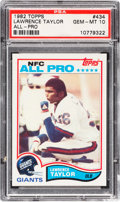 Football Cards:Singles (1970-Now), 1982 Topps Lawrence Taylor #434 PSA Gem Mint 10....