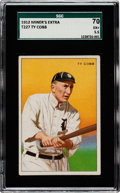 Baseball Cards:Singles (Pre-1930), 1912 T227 Miners Extra Ty Cobb SGC 70 EX+ 5.5 - Pop One, None Higher! ...
