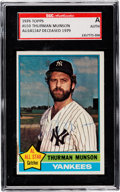 Autographs:Sports Cards, Signed 1976 Topps Thurman Munson #650 SGC Authentic....