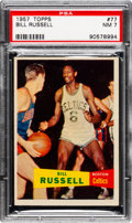 Basketball Cards:Singles (Pre-1970), 1957 Topps Bill Russell #77 PSA NM 7.. ...