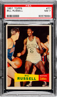 1957 Topps Bill Russell #77 PSA NM 7
