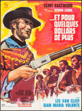 """Movie Posters:Western, For a Few Dollars More (United Artists, 1967). Folded, Very Fine-. French Moyenne (22.75"""" X 31"""") Vanni Tealdi Artwork. Weste..."""