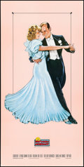 "Movie Posters:Musical, Fred Astaire and Ginger Rogers (Nostalgia Merchant, 1987). Video Poster (20"" X 40"") B. Stavrinos Artwork. Musical.. ..."