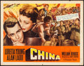"Movie Posters:War, China (Paramount, 1943). Half Sheet (22"" X 28"") Style B. War.. ..."