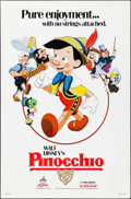 "Movie Posters:Animation, Pinocchio & Other Lot (Buena Vista, R-1984). One Sheets (2) (27"" X 40"" & 27"" X 41"") Paul Wenzel Artwork. Animation.. ... (Total: 2 Items)"