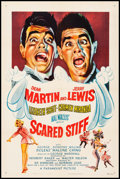 "Movie Posters:Comedy, Scared Stiff (Paramount, 1953). Fine/Very Fine on Linen. One Sheet(27"" X 41""). Comedy.. ..."