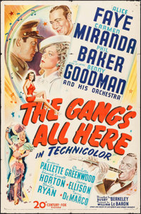 """The Gang's All Here (20th Century Fox, 1943) Folded, Fine+. One Sheet (27"""" X 41""""). Musical.... (Total: 2 Items..."""