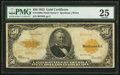 Large Size:Gold Certificates, Fr. 1200a $50 1922 Gold Certificate PMG Very Fine 25.. ...