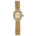 Estate Jewelry:Watches, Lucien Picard Lady's Diamond, Gold Watch . ...