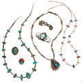 Estate Jewelry:Lots, Multi-Stone, Shell, Silver Jewelry. ... (Total: 7 Items)