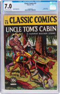 Golden Age (1938-1955):Classics Illustrated, Classic Comics #15 Uncle Tom's Cabin (Gilberton, 1943) CGC FN/VF 7.0 Off-white to white pages....