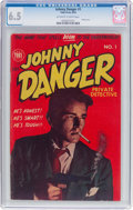Golden Age (1938-1955):Crime, Johnny Danger Private Detective #1 (Toby Press, 1954) CGC FN+ 6.5 Off-white to white pages....