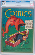 Platinum Age (1897-1937):Miscellaneous, The Comics #4 (Dell, 1937) CGC FN+ 6.5 Off-white pages....