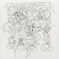 Animation Art:Production Drawing, Alice in Wonderland Hidden Numbers Quiz Illustration (WaltDisney, c. 1970s)....