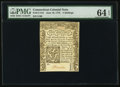Colonial Notes:Connecticut, Connecticut June 19, 1776 5s Uncancelled PMG Choice Uncirculated 64EPQ.. ...