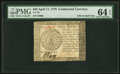 Colonial Notes:Continental Congress Issues, Continental Currency April 11, 1778 $40 PMG Choice Uncirculated 64 EPQ.. ...