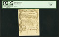 Colonial Notes:Massachusetts, Massachusetts August 18, 1775 4s Sword in Hand Note PCGS Choice New 63.. ...