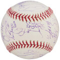 Autographs:Baseballs, 2009 Detroit Tigers Team Signed Baseball (29 Signatures).. ...