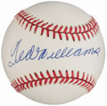 Autographs:Baseballs, Ted Williams Single Signed Baseball, PSA/DNA Mint 9.. ...