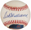 Autographs:Baseballs, Ted Williams Single Signed Portrait Baseball.. ...