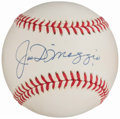 Autographs:Baseballs, Joe DiMaggio Single Signed Baseball, PSA/DNA Mint 9.. ...