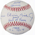 Autographs:Baseballs, Cal Ripken Jr. Single Signed Stat Baseball.. ...