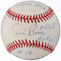Autographs:Baseballs, Ernie Banks Single Signed Stat Baseball.. ...