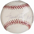 Autographs:Baseballs, Willie Mays Single Signed Stat Baseball.. ...