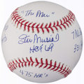 Autographs:Baseballs, Stan Musial Single Signed Stat Baseball.. ...