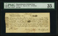 Colonial Notes:Massachusetts, Massachusetts May 25, 1775 18s PMG Choice Very Fine 35.. ...