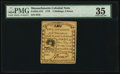 Colonial Notes:Massachusetts, Massachusetts 1779 5s 4d PMG Choice Very Fine 35.. ...