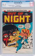 Golden Age (1938-1955):Horror, Out of the Night #16 (ACG, 1954) CGC VF+ 8.5 Off-white to white pages....