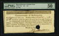Colonial Notes:Massachusetts, Massachusetts 1781 $16 PMG About Uncirculated 50 EPQ.. ...