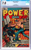 Golden Age (1938-1955):Adventure, Power Comics #1 (Holyoke Publications, 1944) CGC FN/VF 7.0 Cream to off-white pages....