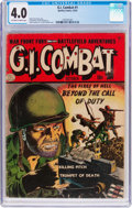 Golden Age (1938-1955):War, G.I. Combat #1 (Quality, 1952) CGC VG 4.0 Off-white to whitepages....