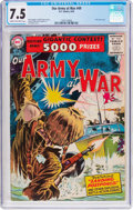Golden Age (1938-1955):War, Our Army at War #49 (DC, 1956) CGC VF- 7.5 Cream to off-whitepages....