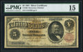 Large Size:Silver Certificates, Fr. 266 $5 1891 Silver Certificate PMG Choice Fine 15.. ...