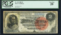 Large Size:Silver Certificates, Fr. 242 $2 1886 Silver Certificate PCGS Very Fine 20.. ...