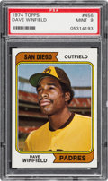Baseball Cards:Singles (1970-Now), 1974 Topps Dave Winfield #456 PSA Mint 9....