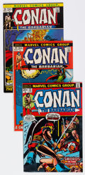 Bronze Age (1970-1979):Adventure, Conan the Barbarian Group of 4 (Marvel, 1972-73) Condition: Average VF.... (Total: 4 Comic Books)