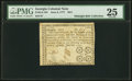 Colonial Notes:Georgia, Georgia June 8, 1777 $3/4 PMG Very Fine 25.. ...